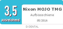 Testsiegel: Nixon MOJO TMG Aufbissschiene