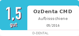 Testsiegel: OzDenta CMD Aufbissschiene